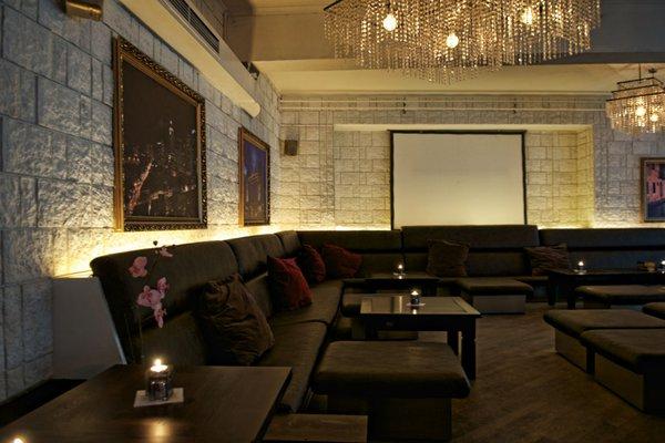 Exklusive Lounge-Bar in Steinoptik, Stadtmitte